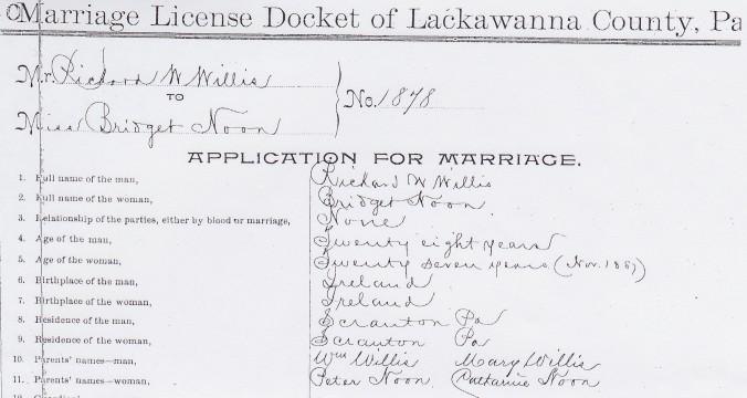 Willis-Noone 1887 Marriage 1 (2)