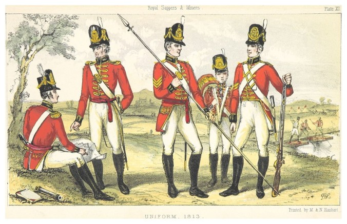 1200px-CONNOLLY(1855)_Vol2,_p337_(Plate_11)_ROYAL_SAPPERS_&_MINERS,_UNIFORM_1813