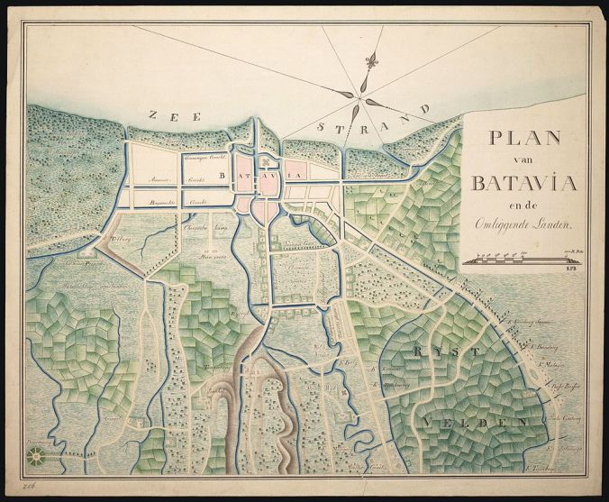 Plan_van_Batavia_en_de_omliggende_landen,_1800-1850_-_Map_of_Batavia_and_surrounding_countryside,_1800-1850_(4600341585)