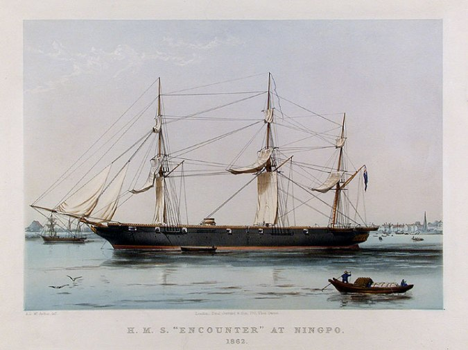 HMS_Encounter_(1846)_at_Ningpo_in_1862