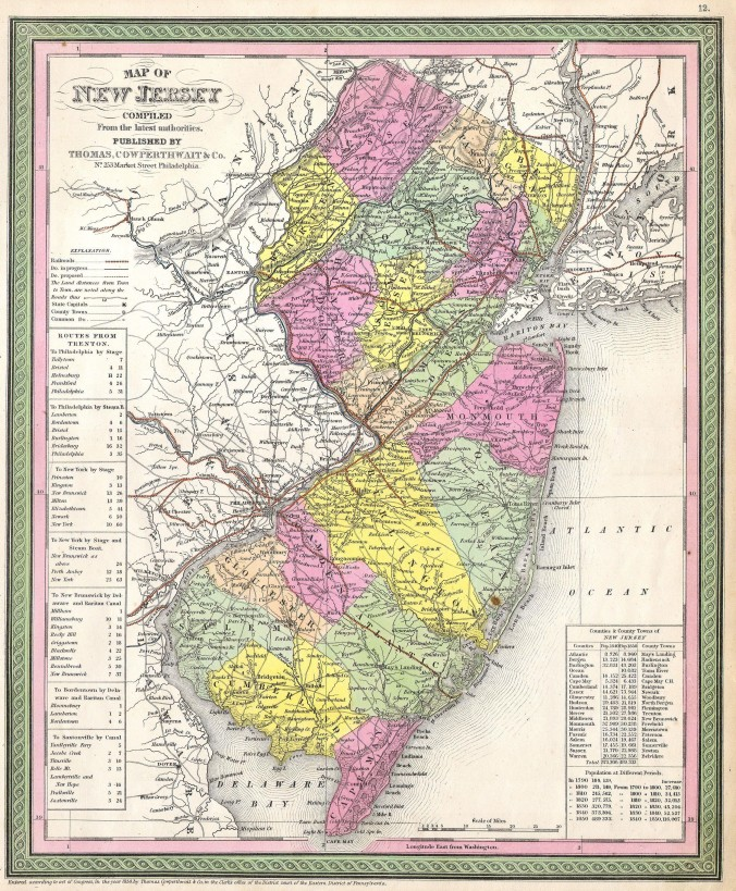 1850_Cowperthwait_-_Mitchell_Map_of_New_Jersey_-_Geographicus_-_NJ-m-50