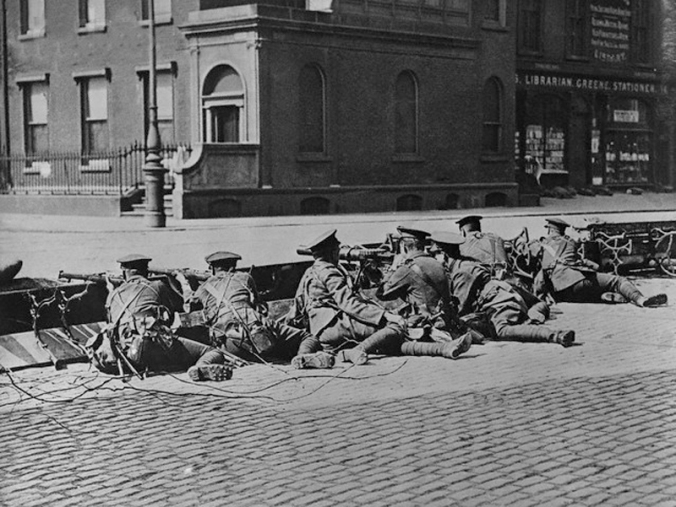 "British Troops Seal-Off Dublin Streets during""Troubles"""