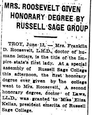Bogert, Elisabeth Oblenis 1929 Plattsburgh Republican, June 14, 1929, Page 5
