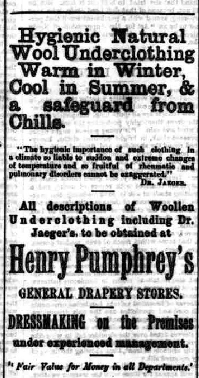 Pumphrey, Henry Harris 1889 Draper Bromyard News 28 Mar