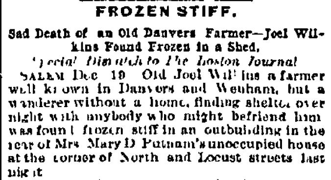 Wilkins, Joel 1891 Obit Boston Journal 19 Dec (2)