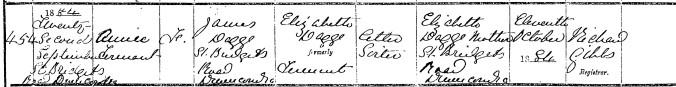 Dagge, Annie Tennant 1884 Birth (2)